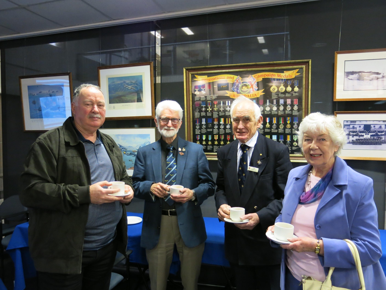 Above (L-R):Bob Woods, Noel Hutchins, Tom Roberts, Penny Roberts