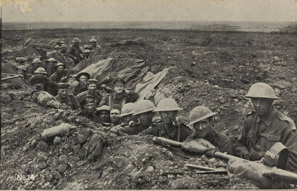 Australian troops in the Western front trenches (source: State Library of Queensland)