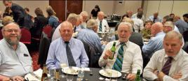 55 gathered at the Seasons Hotel for our traditional ANZAC Day Reunion Lunch - Graham Walter, nephew of Gareth Davis, Gareth, Rick Holmes and Russ Hateley