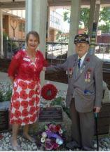 Allan Arvidson and Jennifer Newton - Remembrance Day 2016 Heidelberg Repatriation Hospital