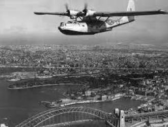 Catalina over Sydney Harbour